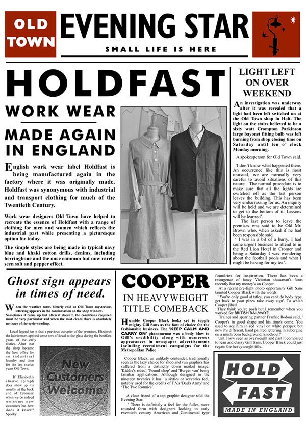 HOLDFAST Designed by OLDTOWN