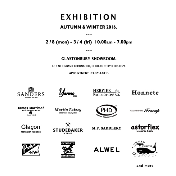 2016 AUTUMN & WINTER EXHIBITION